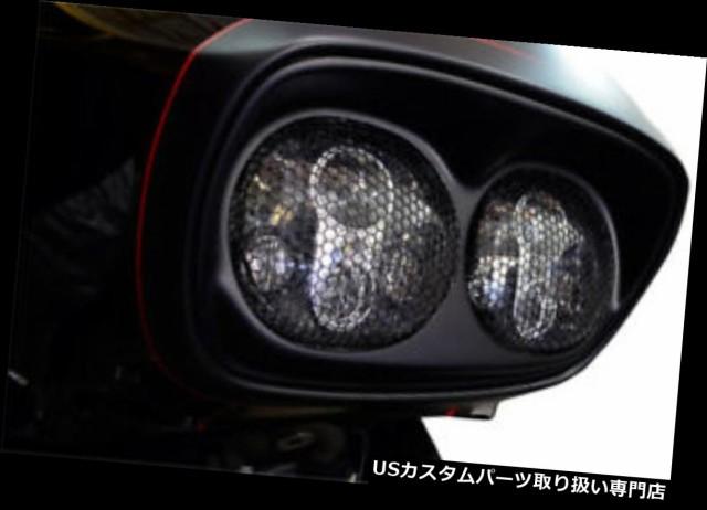 【安心発送】 バイク ヘッドライト ヘッドライトグリルデュアルアルミブラック - HARLEY DAVIDSON ROAD GLIDE ABS ... Headlight grille dual alumi, スイフムラ f68cf411