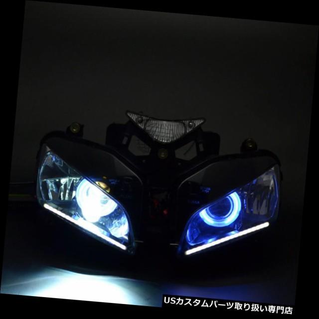 【公式ショップ】 バイク ヘッドライト ホンダCBR1000 04 - 07のヘッドライトアセンブリブルーエンジェルアイプロジェクター+ LED DRL新しい Headlight, インテリア通販サイト-カグナビ 663aa8b5