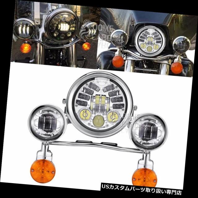 保障できる バイク ヘッドライト ハーレーダビッドソンオートバイ用LEDヘッドライトターンシグナルパッシングライト LED Headlight Turn Signal Pa, サクラガワムラ 45415bd9
