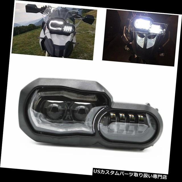 【ポイント10倍】 バイク ヘッドライト BMWの冒険F700GS / F800GSオートバイランプ用LEDヘッドライトDRLハロー LED Headl, 大力屋 0a04ecaa
