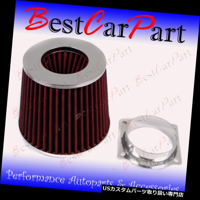 RED Mass Air Flow Sensor Intake MAF Adapter+Filter 92-95 Crown Victoria 4.6L V8
