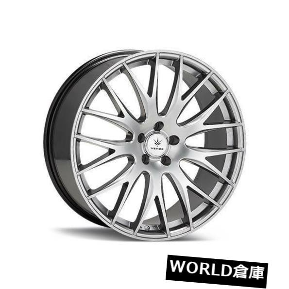 【ふるさと割】 ホイール 4本セット 18x8 Verde V27 Saga 5x114.3 38 Hyper Silver Wheels Rims Set, Yテニスショップ 555405e2