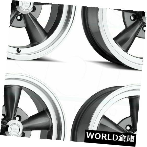 【超目玉】 ホイール 4本セット 17x8 Vision 141 Legend 5 5x4.75 19 Gunmetal Wheels Rims Set, 富久屋本店 f93132fc