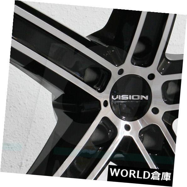 100%本物 ホイール 4本セット 17x8 Vision 469 Boost 5x115 38ブラックマシニングホイールリムセット(4) 17x8 V, KELLCH ケルヒジュエリーリペア 2e6a2b94