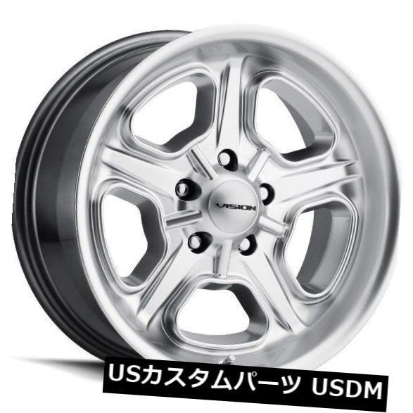 【通販 人気】 ホイール 4本セット 15X7 Vision 147 Daytona 5x114.3 ET-7 Hyper Silver Wheels(4個, 津山銘木有馬店 72f8d6a1