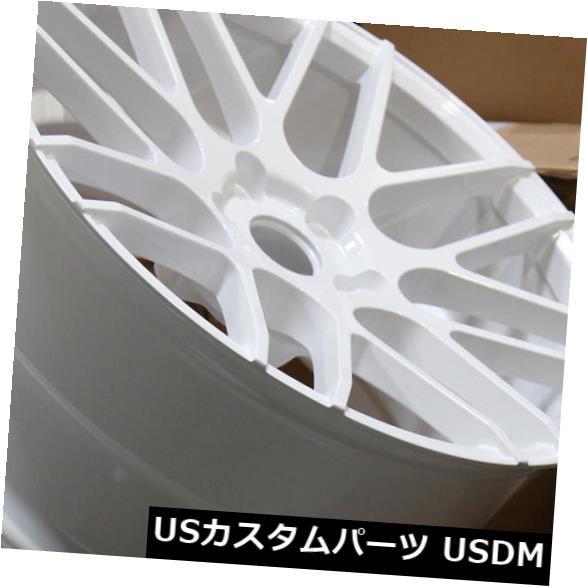 最適な価格 ホイール 4本セット グラウンドフォースGF7 18x8 / 18x9 5x105ホワイトホイール(4個セット) Ground Force, 介護オフ 943f46f0