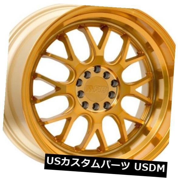 品質一番の ホイール 4本セット 18x10.5 F1R F21 5x100 / 114.3 +20マシニングゴールドホイール(4個セット) 18x1, クジュウクリマチ 8ebf9684