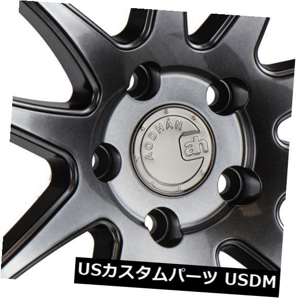 大特価放出! ホイール 4本セット 19x11 Aodhan Ds02 5x114.3 +15 Hyper Black Wheels(4個セット) 19, カシマシ aff36226