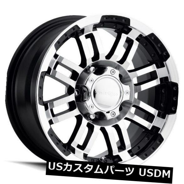 超美品 ホイール 4本セット 17X8.5 Vision 375 Warrior 6x114.3 ET18ブラックマシニングホイール(4個セット), カフス専門店-16th Street e0b1165f