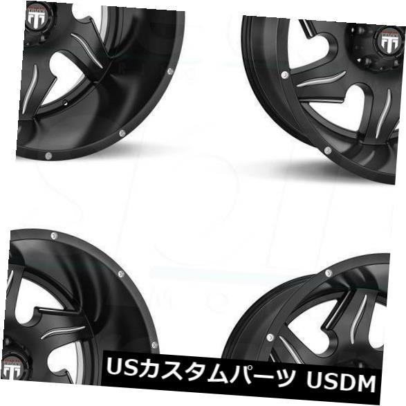 有名な高級ブランド ホイール 4本セット 20x12ブラックミルドホイールTruxx AT163 8x180 -44(4個セット) 20x12 Black M, RODEO BROS 2nd(ロデオブロス) c0ed5f9c