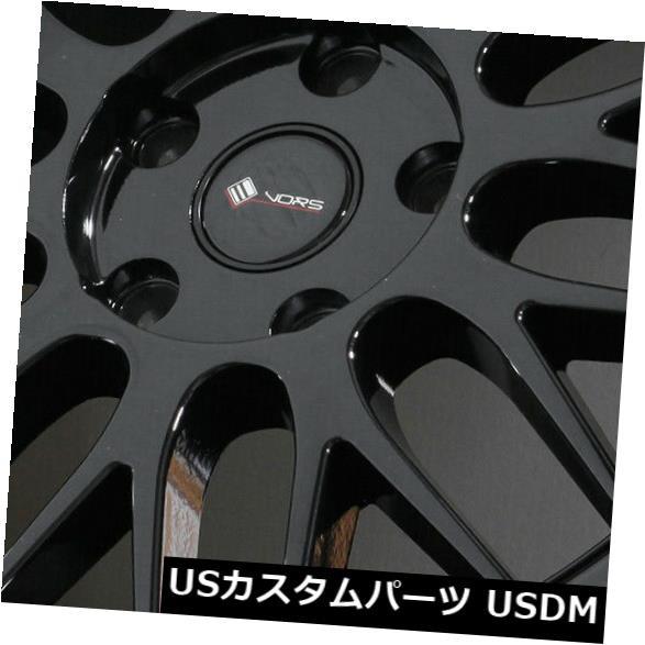 最高 ホイール 4本セット 18x9グロスブラックホイールVors VR8 5x112 35(4個セット) 18x9 Gloss Black W, アサクチグン ff7d444d