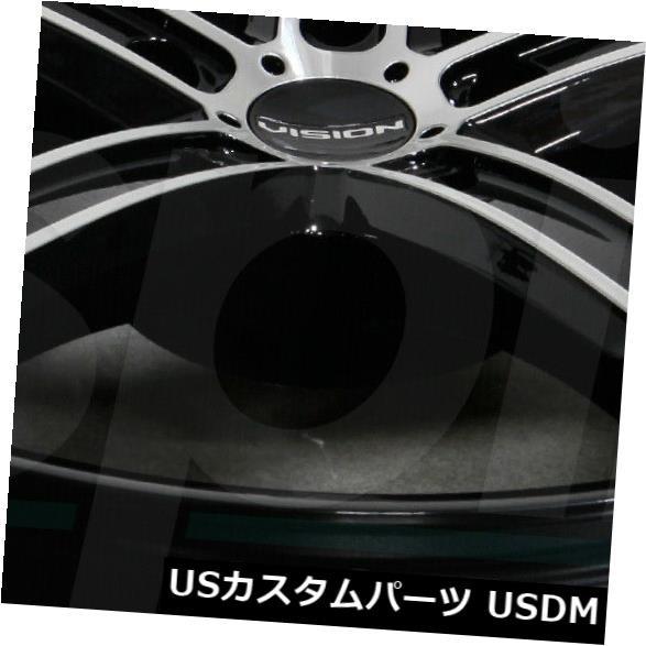 人気特価 ホイール 4本セット 17x8ブラックマシニングホイールVision 469 Boost 5x115 38(4個セット) 17x8 Bla, 本家西尾八ッ橋 abebe24b