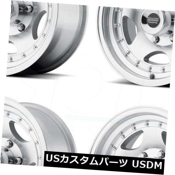 【メール便送料無料対応可】 ホイール 4本セット 15x8 Machine Wheels American Racing AR23 5x114.3 / 5x4.5 -1, なかむら米穀 fd46d64e