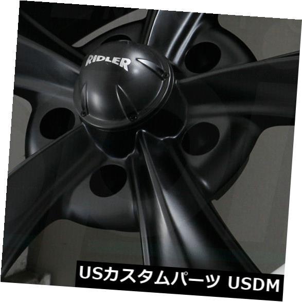 代引き人気 ホイール 4本セット 18x8マットブラックマシニングドリップホイールリドラー695 5x5 / 5x127 0(4個セット) 18x8, blueowl f5b0de02