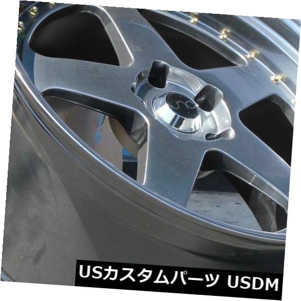 ★日本の職人技★ ホイール 4本セット 17x8 Hyper Black Wheels JNC 010 JNC010 4x100 / 4x114.3 30(4, BrandShop Akindo 質屋あきんど d3dc460f