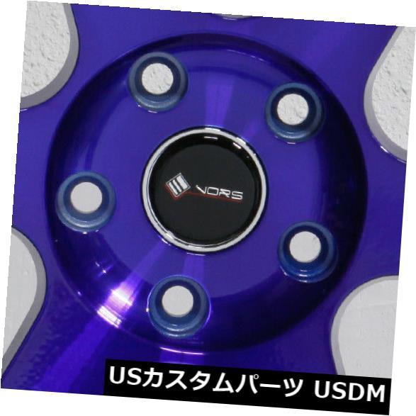 日本未入荷 ホイール 4本セット 4-新しい18インチVors TR37ホイール18x9.5 5x110 22キャンディパープルブルーリム 4-New, switch (スイッチ) e8a93694