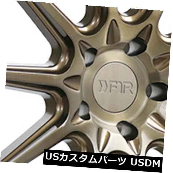 高級素材使用ブランド ホイール 4本セット 4-新しい20インチF1R F101ホイール20x9 5x114.3 35マシンブロンズリム 4-New 20