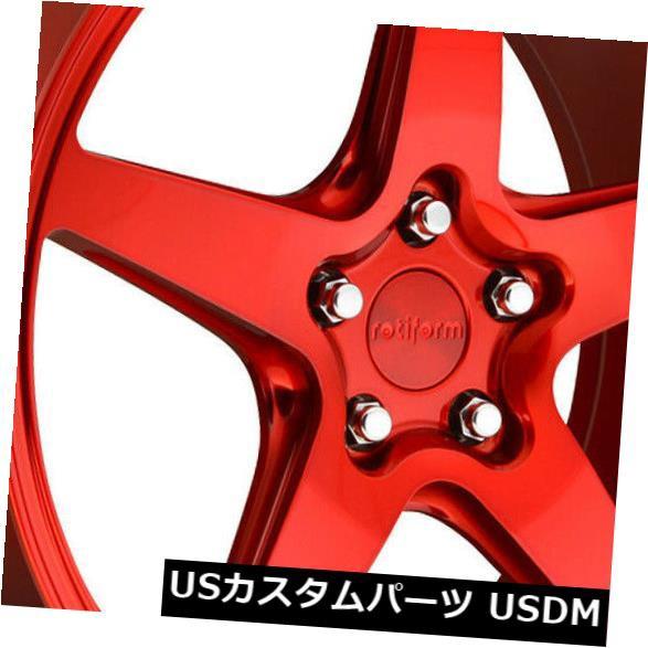 人気 ホイール 4本セット 4-新しい19インチRotiform WGR R149ホイール19x8.5 5x112 45レッドリム 4-New, カモトマチ 68382a60