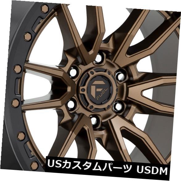 【一部予約販売】 ホイール 4本セット 17x9 Fuel Rebel D681 6x135 1ブロンズブラックリップホイールリムセット(4) 17x9 F, セレクトマルワ 4b457d33
