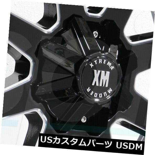 【在庫あり】 ホイール 4本セット 26x14 Xtreme Mudder XM304 8x6.5 / 8x165.1 -76グロスブラックミルドホイール, 南陽市 405c2448