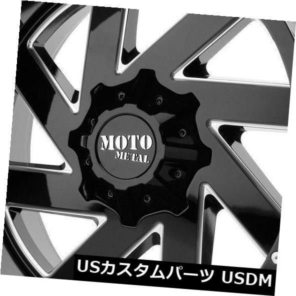 最高の品質 ホイール 4本セット 22x10 Moto Metal MO988近接6x135 / 6x5.5 -18ブラックミルドホイールリムセット(4, 絵画材料と文房具のお店 画材本舗 bbc31815