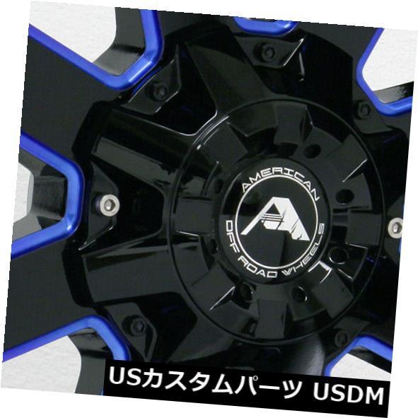 新しいエルメス ホイール 4本セット 20x10アメリカンオフロードA108 6x135 -24ブラックミルドブルーホイールリムセット(4) 20x10, サンセイタイヤサービス b384ab95