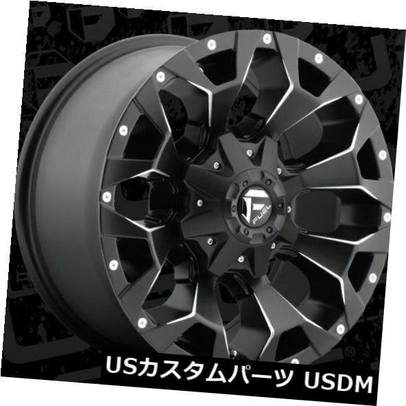 欲しいの ホイール 4本セット 18x9 ET1 Fuel D546 Assault 8x165.1 Black Milled Wheels(4個セッ, 鳥越村 65b9bd18