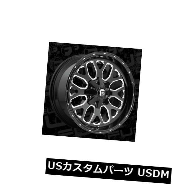 大割引 ホイール 4本セット 20x10 ET-18 Fuel D588 Titan 5x139.7 / 5x150 Black Milled Wh, Mille Fleurs 7bf6df79