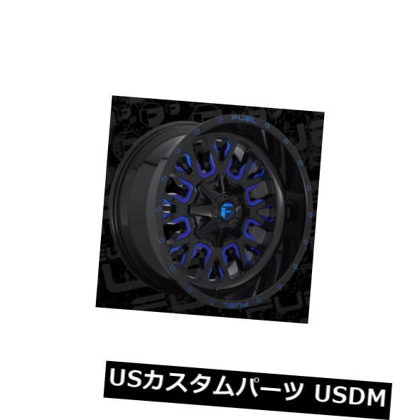 激安直営店 ホイール 4本セット 22x10 ET10 Fuel D645 Stroke 8x180 Black w / Candy Blue Rims, モンゼンマチ 3eb8a266
