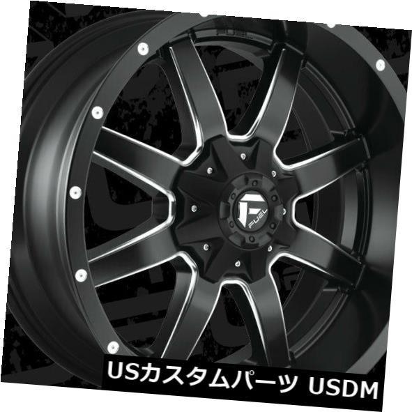 素晴らしい品質 ホイール 4本セット 22x10 Fuel D538 Maverick 8x170 ET-24 Black & Milled Ri, イタミシ b7ddcf6d
