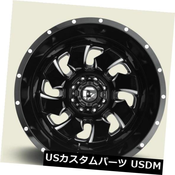 ー品販売  ホイール 4本セット Fuel Cleaver Dualie Front D574 20x8.25 8x6.5 ET105 Black /, 最安 92f93976