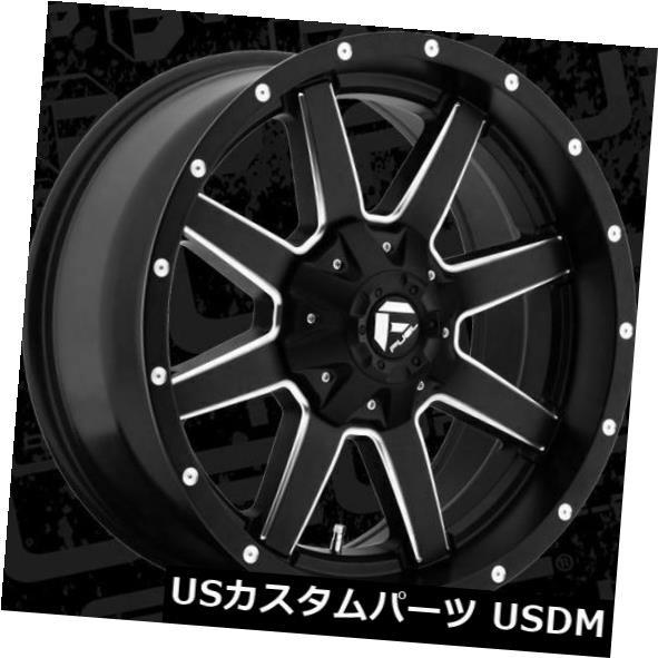 今季ブランド ホイール 4本セット 20x9 Fuel D538 Maverick 8x180 ET20 Black & Milled Rims, YOUPLAN 7803ce9f