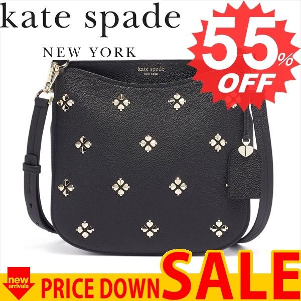 柔らかな質感の ケイトスペード バッグ ショルダーバッグ KATE SPADE MARGAUX SPADE STUD CROSSBODY PXRUA231 001 BLACK 比較対照価格87,736 円, アチーバー b59bbd5d