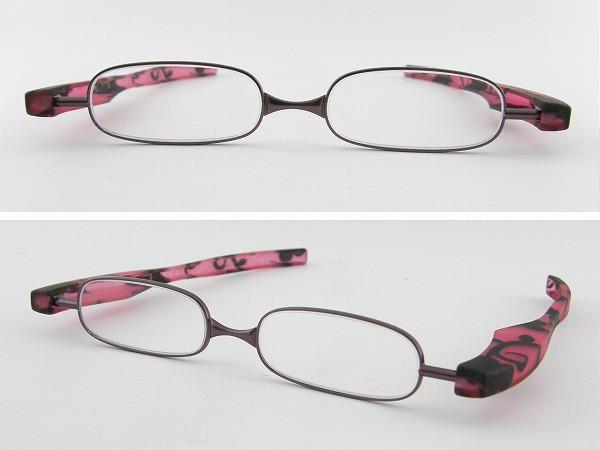 ■新品■ ポッドリーダー AJ-1030-PU 老眼鏡 Podreader 度数 +1.00 折りたたみ 携帯 べんり 緊急用 ポケット 収納
