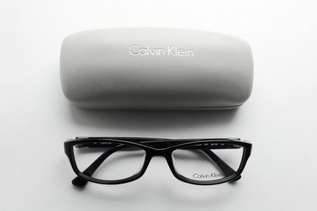 ■新品■ カルバンクライン 5905A-001 メガネ 細身 シンプル ロゴ めがね 香水 ブランド 伊達眼鏡 CK