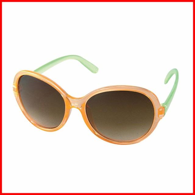 サングラス UV 紫外線カット ファッショングラス 子供 キッズ ジュニア 男の子 女の子 オレンジ