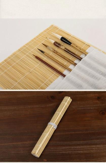 竹製 毛筆 用 筆巻き 筆入れctr-f81【1~2日発送】