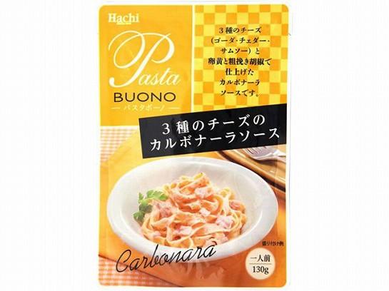 ハチ食品 3種のチーズのカルボナーラソース 130g x24 4902688263417