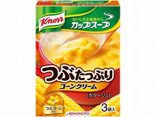 味の素  クノール カップスープ つぶたっぷりコーンクリーム 3袋 x10 4901001135769