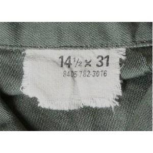 ファーティングシャツレプリカ OG-107オリーブ無地 13 1/2