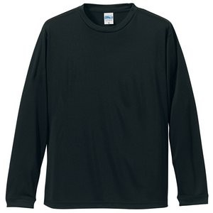 UVカット・吸汗速乾・シルキータッチロングスリーブ Tシャツ CB5089 ブラック L