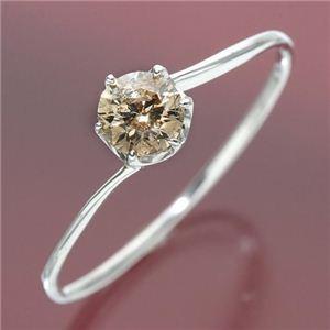 【海外輸入】 K18ホワイトゴールド 0.3ctシャンパンカラーダイヤリング 指輪 11号, 北巨摩郡 b9793f27