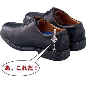 〔日本製〕法事用家紋入靴止め&靴べらセット 巾着袋付 丸に抱き柊 kutuberaset-33