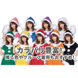 〔クリスマスコスプレ 衣装〕 サンタ帽子 ブルー