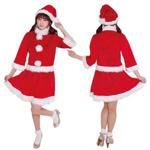 〔クリスマスコスプレ 衣装〕 ベイシックサンタ レッド