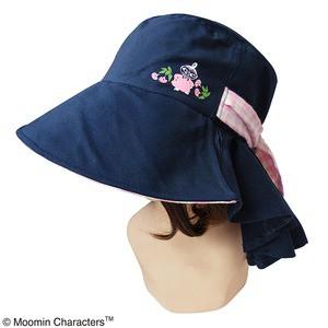 〔保育士さん〕ムーミン つば広帽子 フラワーピンク