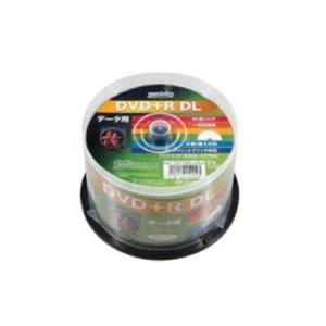 HIDISC DVD+R DLデ‐タ用メディア レーベル ワイドタイプ プリンタブル白50枚スピンドル HDD+R85HP5