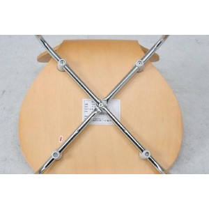 シェルチェア/スタッキングチェア 【座面高:46cm】 木製 背もたれ付き ナチュラル