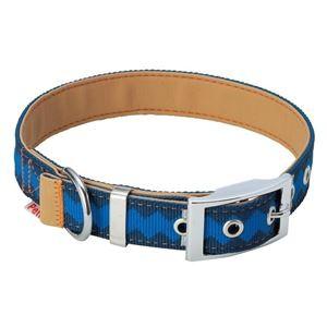 ヤマヒサ BASIC PLUS ロンバスカラー L ブルー 〔首輪〕〔ペット用品〕