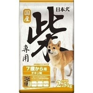 (まとめ)イースター 日本犬柴専用 7歳から用 2.5Kg 〔犬用・フード〕〔ペット用品〕〔×4セット〕